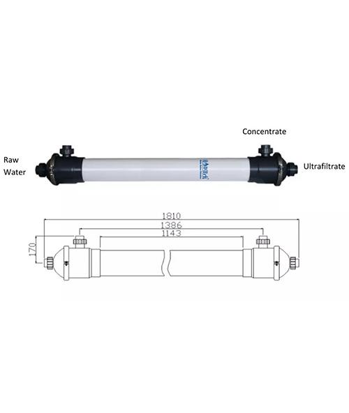 "UFM160 Series 6"" PVDF Hollow Fiber Ultrafiltration Membrane Module"