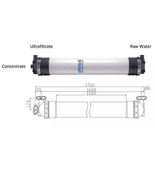 "UFM250 Series 10"" PVDF Hollow Fiber Ultrafiltration Membrane Module"