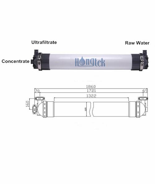 UFM225 Series PVDF Hollow Fiber Ultrafiltration Membrane Module