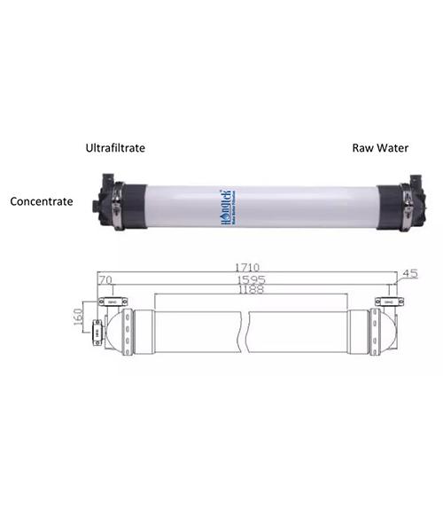 "UFM200 Series 8"" PVDF Ultrafiltration Membrane Module for Water Treatment"